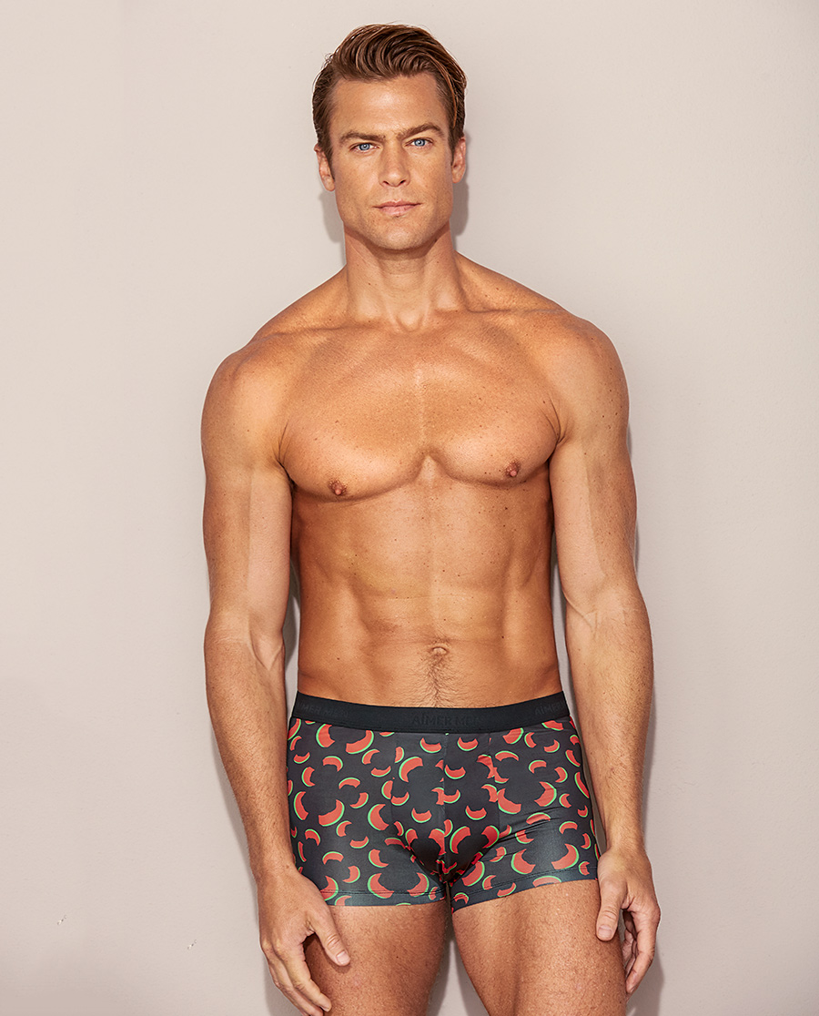 Aimer Men内裤|爱慕先生20AW牛角裤中腰平角裤NS23