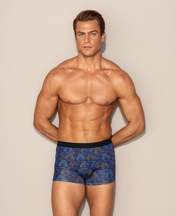 Aimer Men内裤 爱慕先生赛博之星动物系列装腰平角裤NS23D331A