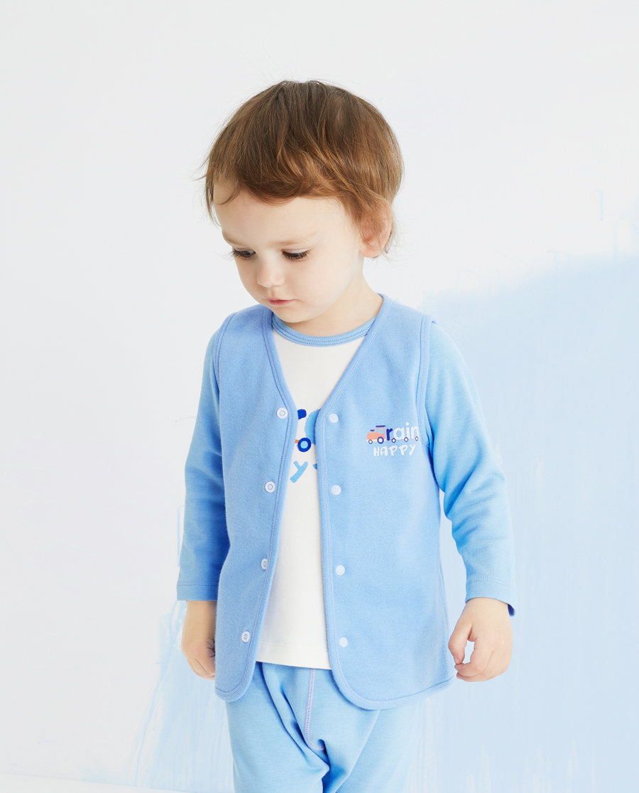 Aimer Baby睡衣|爱慕婴儿小火车男婴幼马甲AB241375