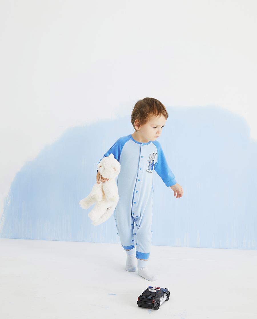 Aimer Baby保暖|爱慕婴儿暖阳新意男婴幼长袖连体爬服AB2