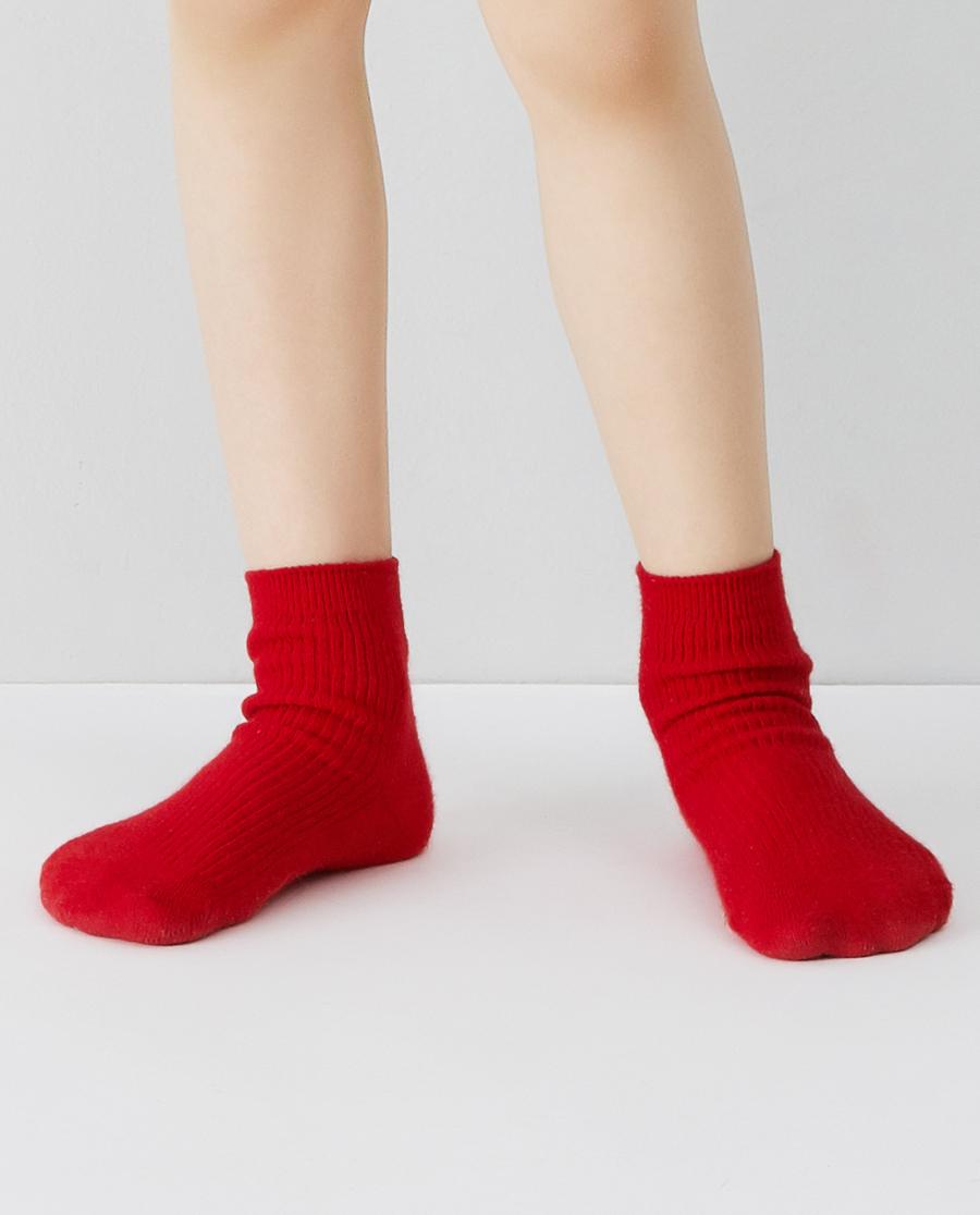 Aimer Kids袜子|爱慕儿童20AW袜子中性红罗纹童袜AK3944563