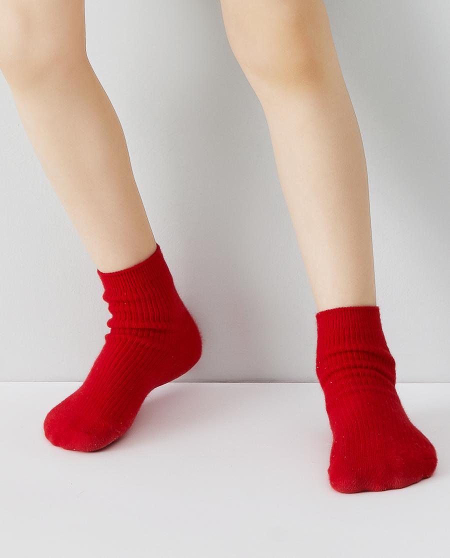 Aimer Kids袜子|爱慕儿童20AW袜子中性红罗纹童袜AK3