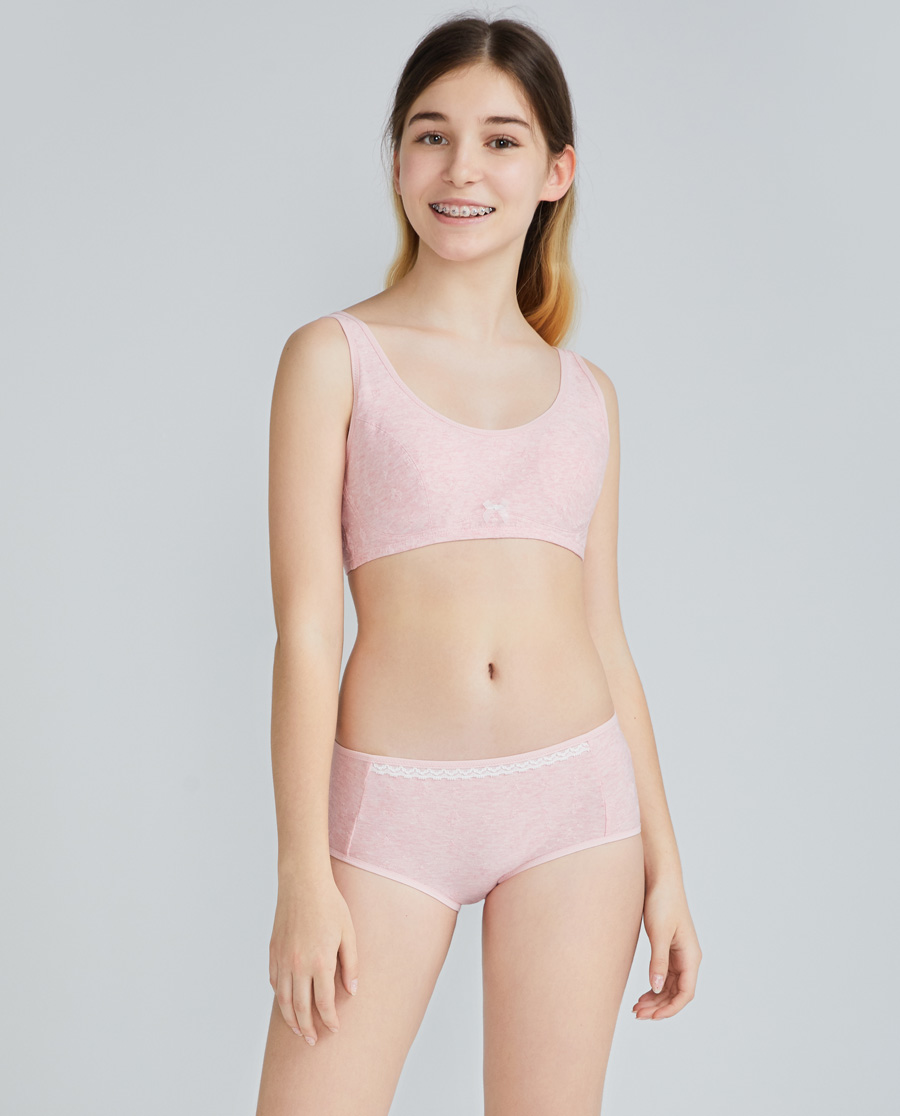 Aimer Junior内裤|爱慕少年植物公主少女中腰平角裤AJ123