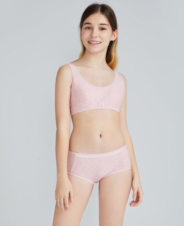 Aimer Junior内裤|爱慕少年植物公主少女中腰平角裤AJ1233591