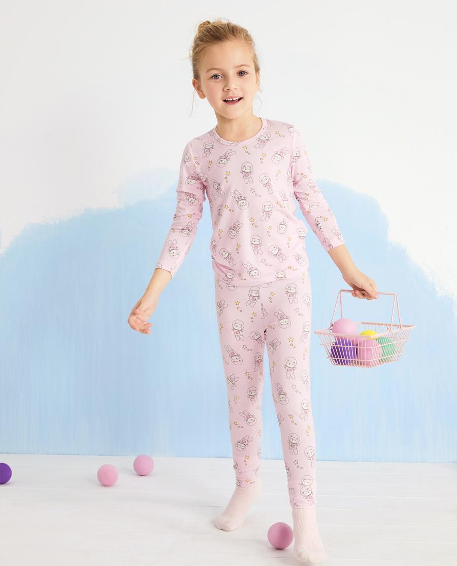 Aimer Kids保暖|爱慕儿童宇航猫女孩长裤AK1734241
