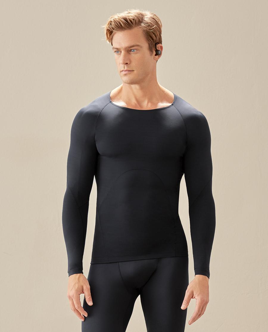 Aimer Men运动装|爱慕先生20AW运动软衣圆领长袖NS62