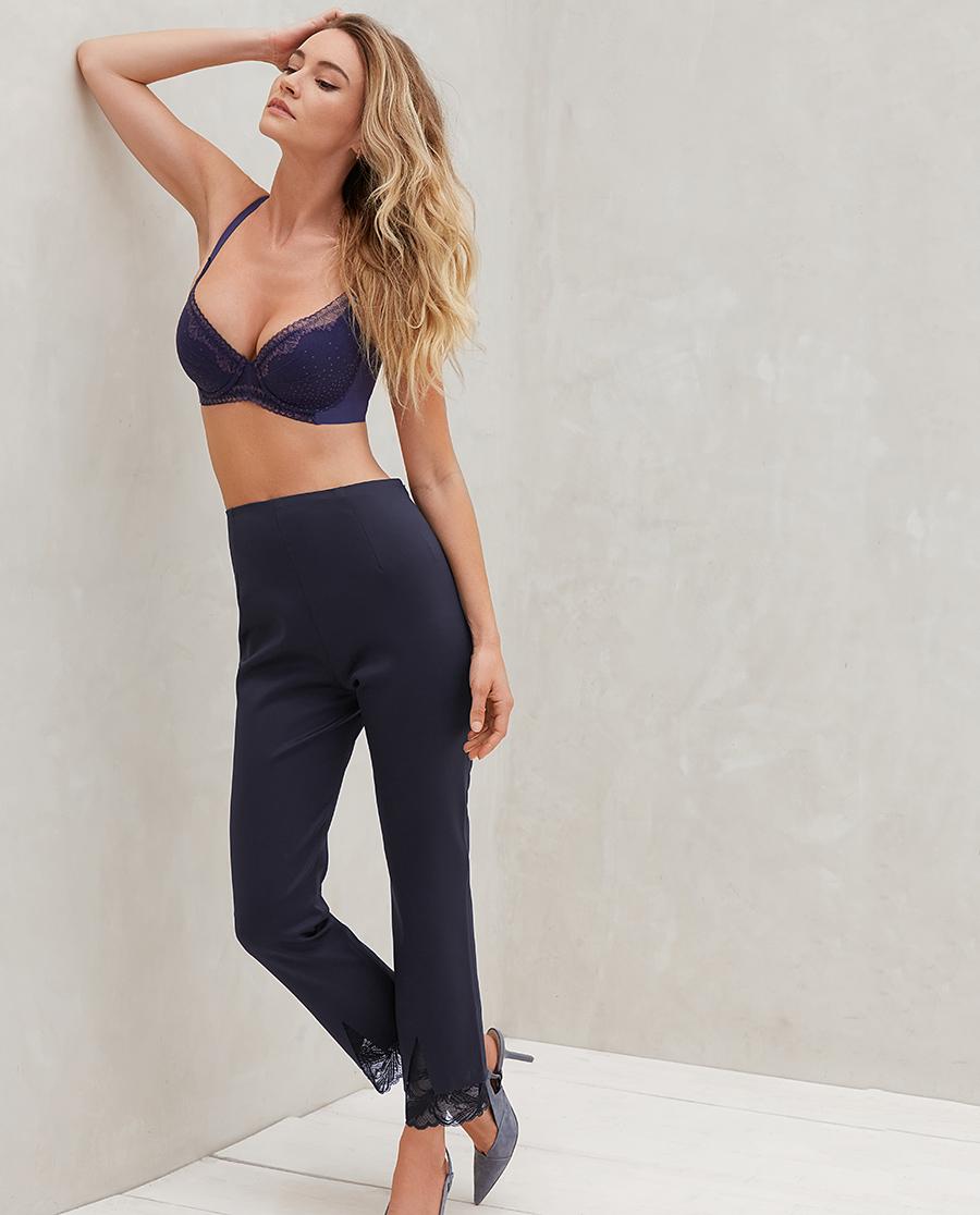 Aimer睡衣|爱慕小黑裤2高腰紧身小脚裤AM82524