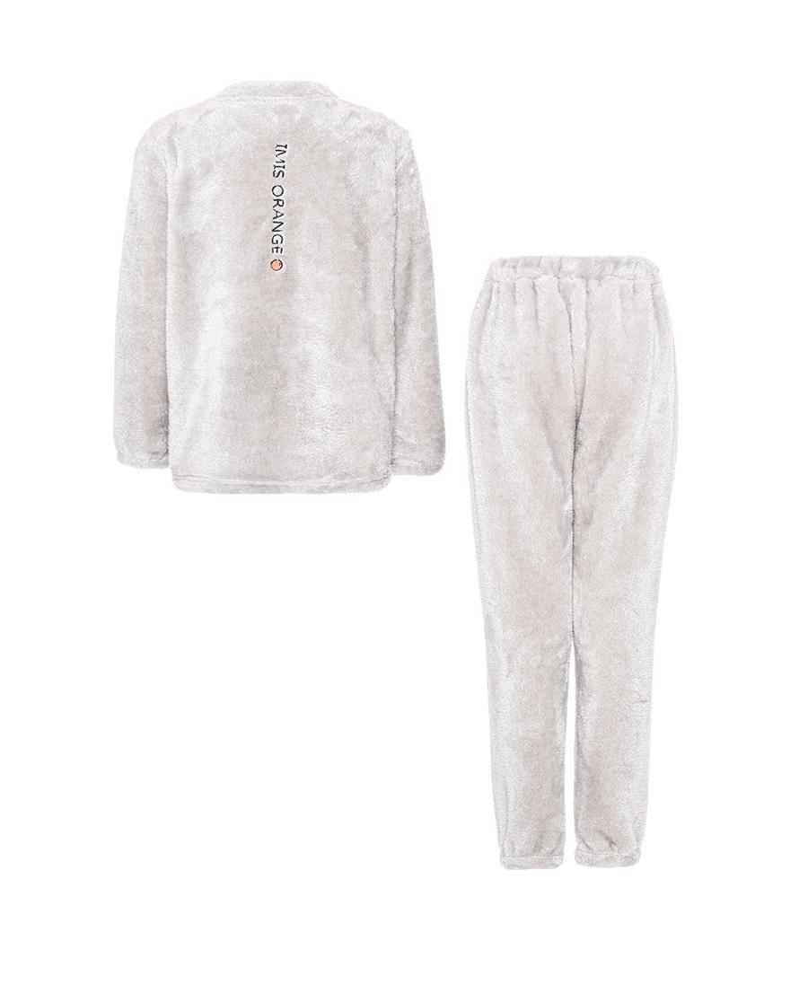 IMIS睡衣|爱美丽家居橙鸭圆领长袖长裤套装IM46B