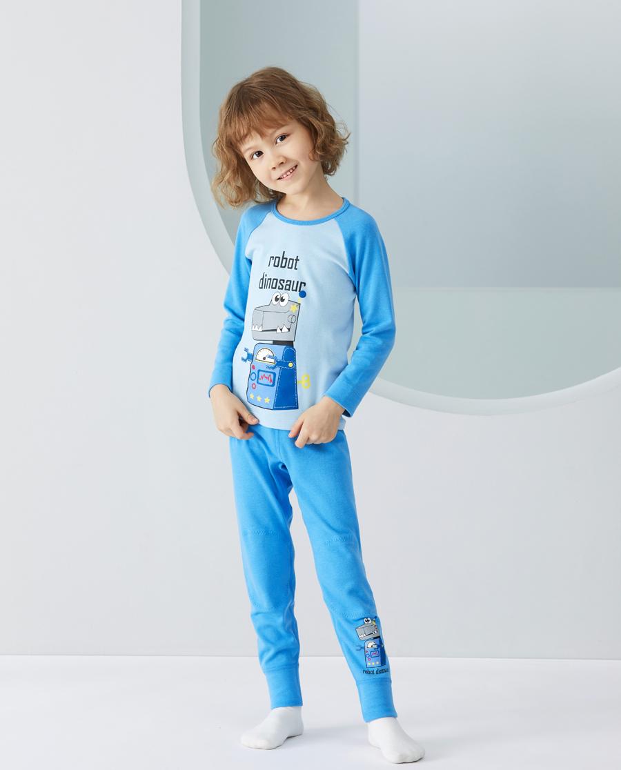 Aimer Kids保暖|爱慕儿童暖阳新意男孩双层长裤AK2733