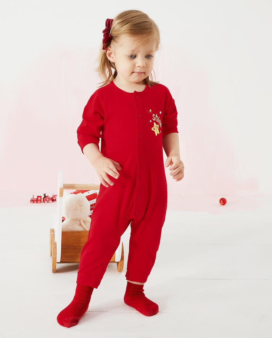 Aimer Baby保暖|爱慕婴儿暖阳新意中性婴幼长袖连体爬服AB