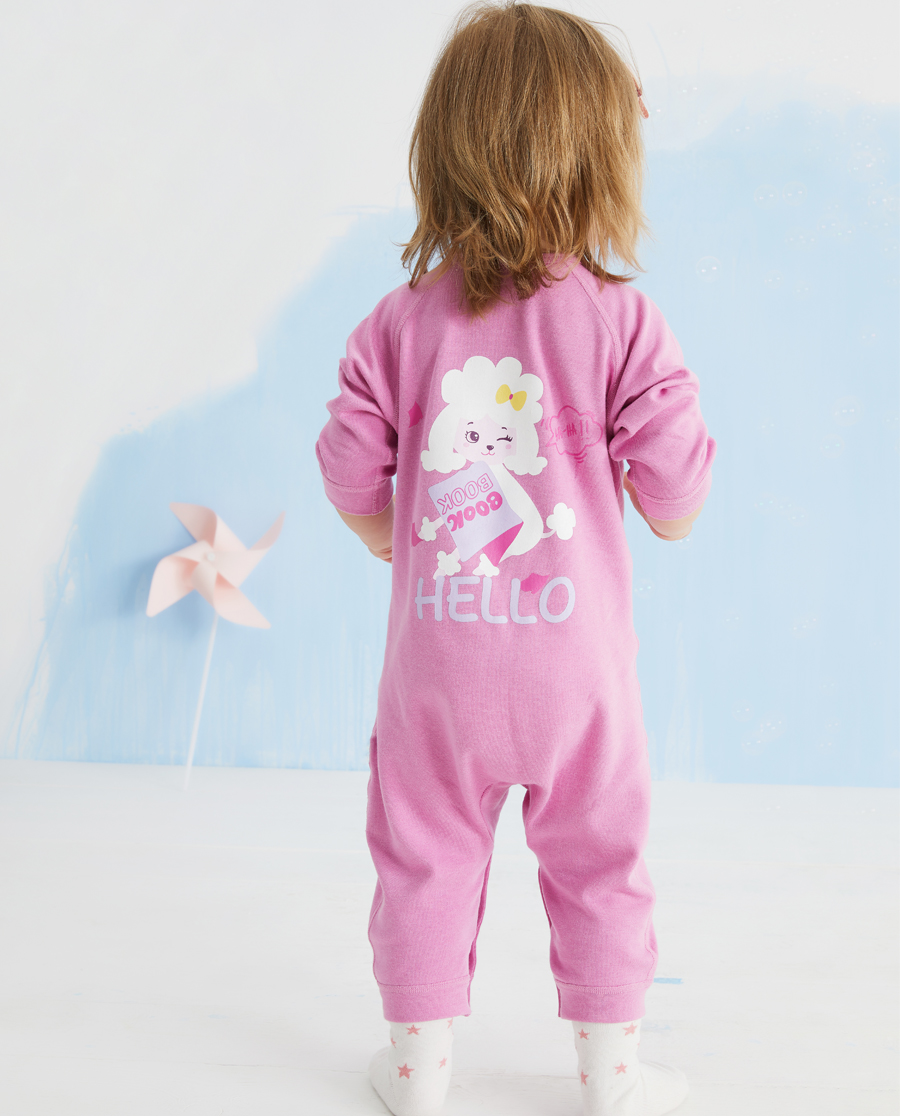 Aimer Baby保暖|爱慕婴儿暖阳新意女婴幼双层长袖连体爬服A