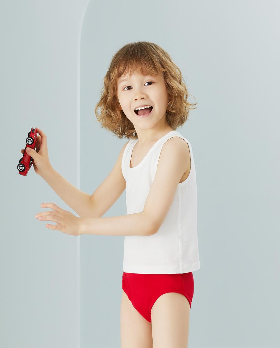 Aimer Kids内裤|天使小裤MODAL印花小牛哞哞中腰三角裤