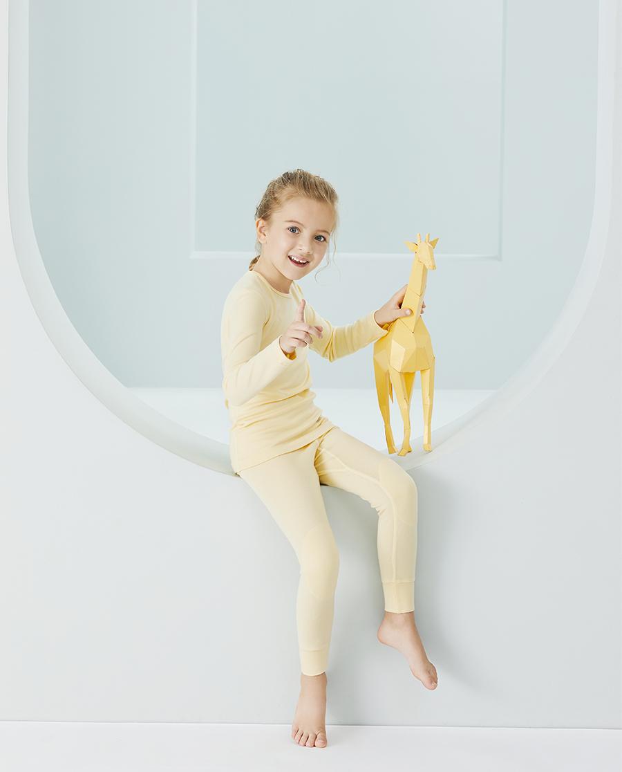 Aimer Kids保暖|爱慕儿童新暖尚中性单层圆领长袖AK372