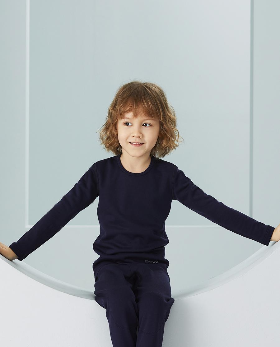 Aimer Kids保暖|爱慕儿童新暖尚男孩单层圆领长袖AK272