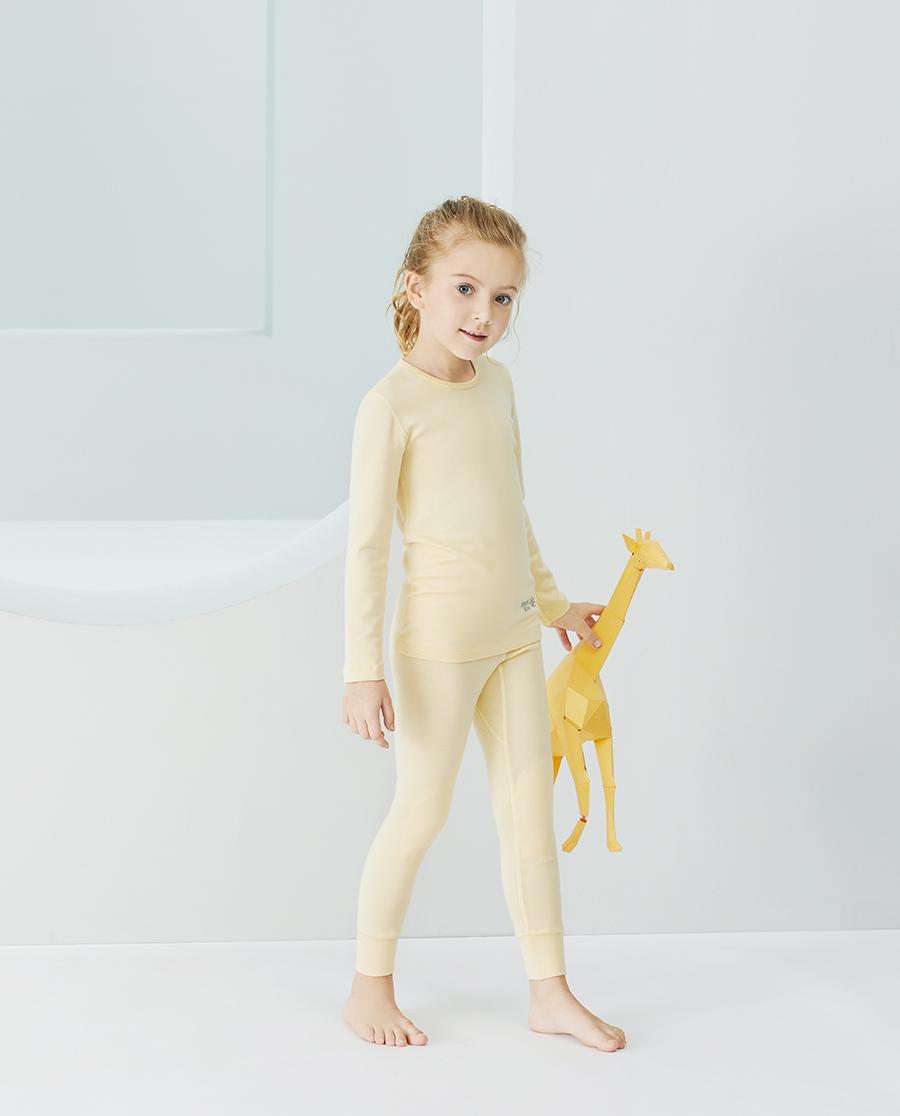 Aimer Kids保暖|爱慕儿童新暖尚中性单层长裤AK37343