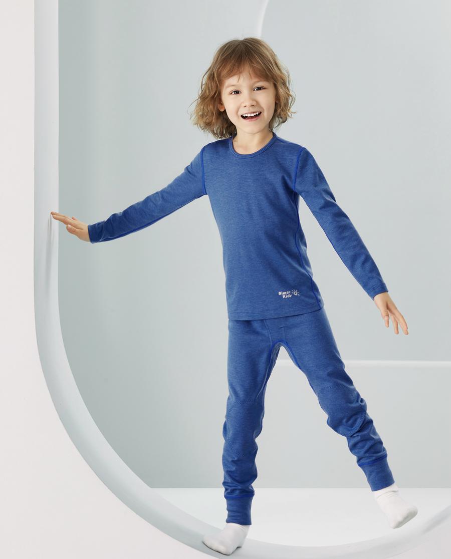 Aimer Kids保暖|爱慕儿童新暖尚男孩单层长裤AK27343