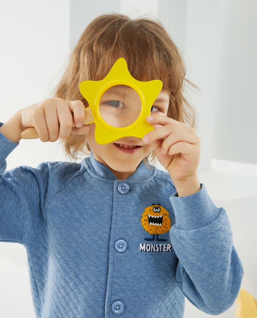 Aimer Kids睡衣|爱慕儿童大眼兽男孩开衫长袖家居AK241