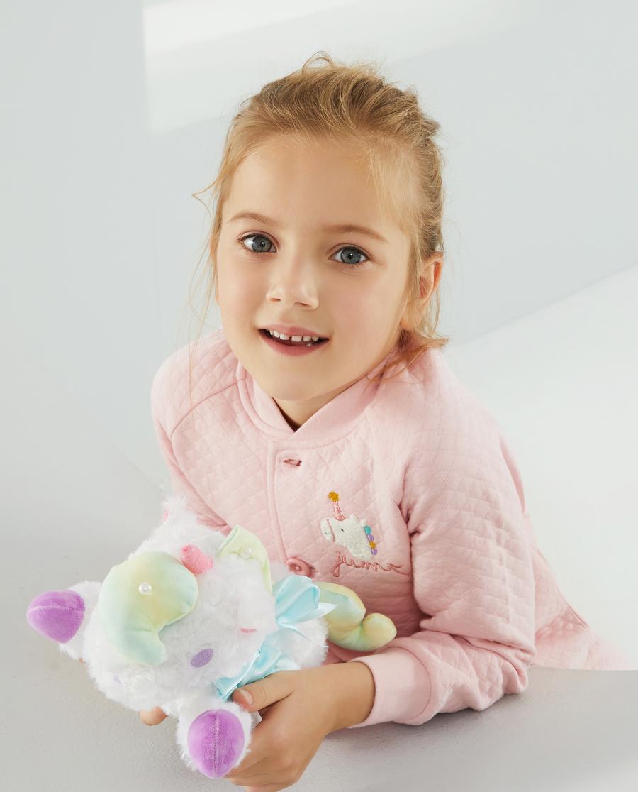 Aimer Kids睡衣|爱慕儿童欢迎派对女孩开衫长袖家居AK14