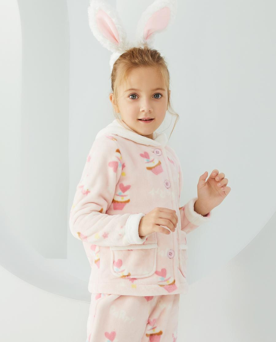 Aimer Kids睡衣|爱慕儿童梦幻派对女孩开衫长袖家居AK14