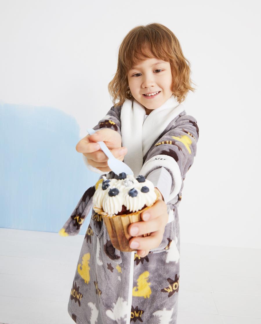 Aimer Kids睡衣|爱慕儿童恐龙地带男孩家居袍AK24439