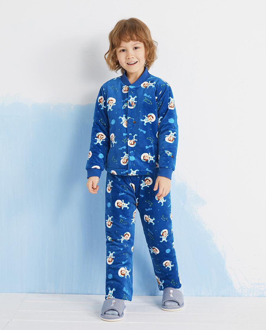 Aimer Kids睡衣|爱慕儿童太空小猴男孩家居长裤AK2423