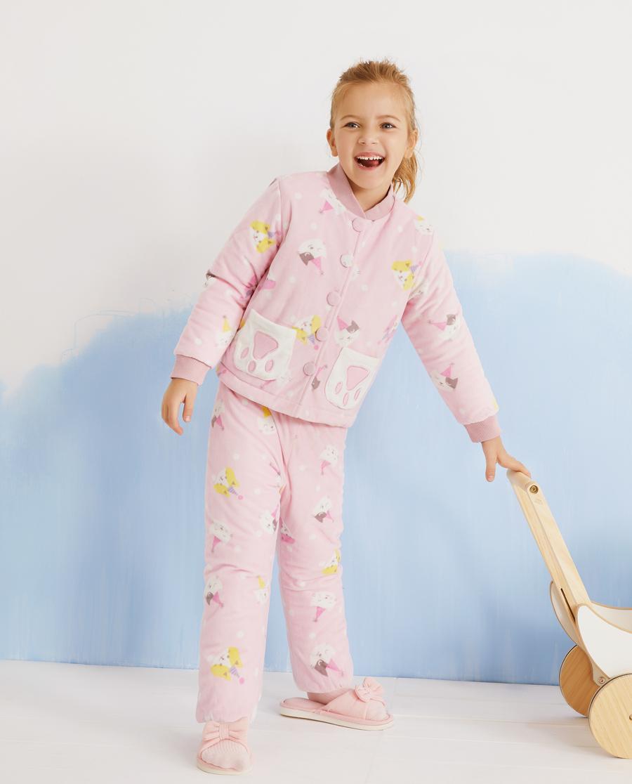 Aimer Kids睡衣|爱慕儿童猫咪乐园女孩家居长裤AK1423