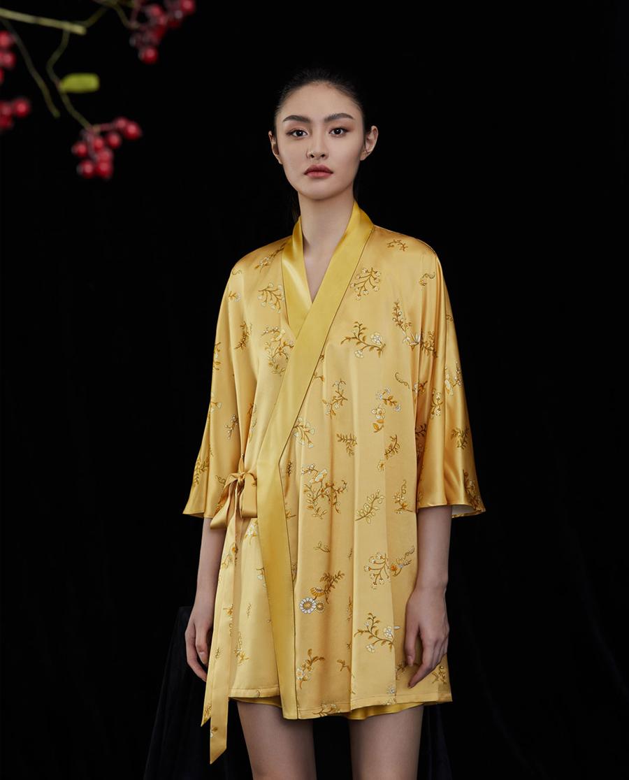 EMPERORIENT睡衣|皇锦拼接汉服连衣裙HJ21299