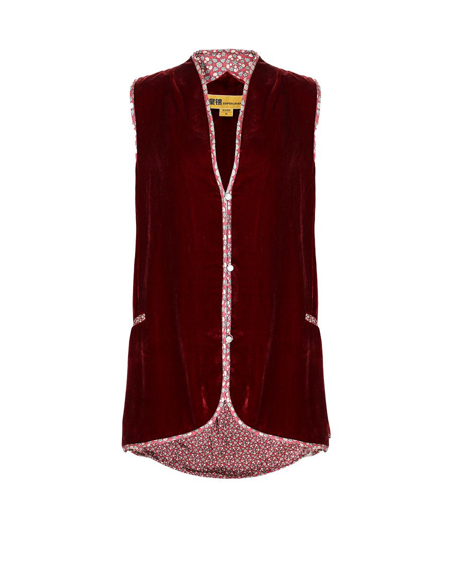 EMPERORIENT睡衣|皇锦女士丝绒马甲HJ21151