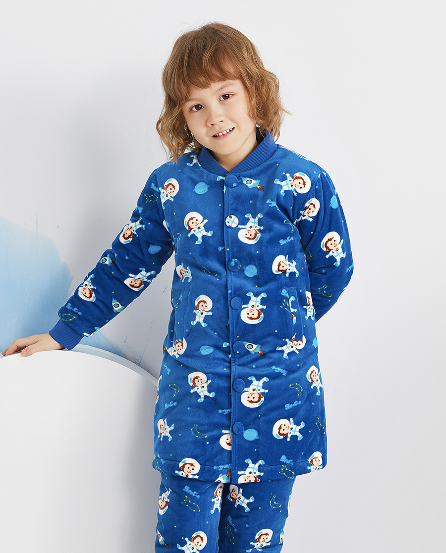 Aimer Kids睡衣|爱慕儿童太空小猴男孩家居袍AK24439