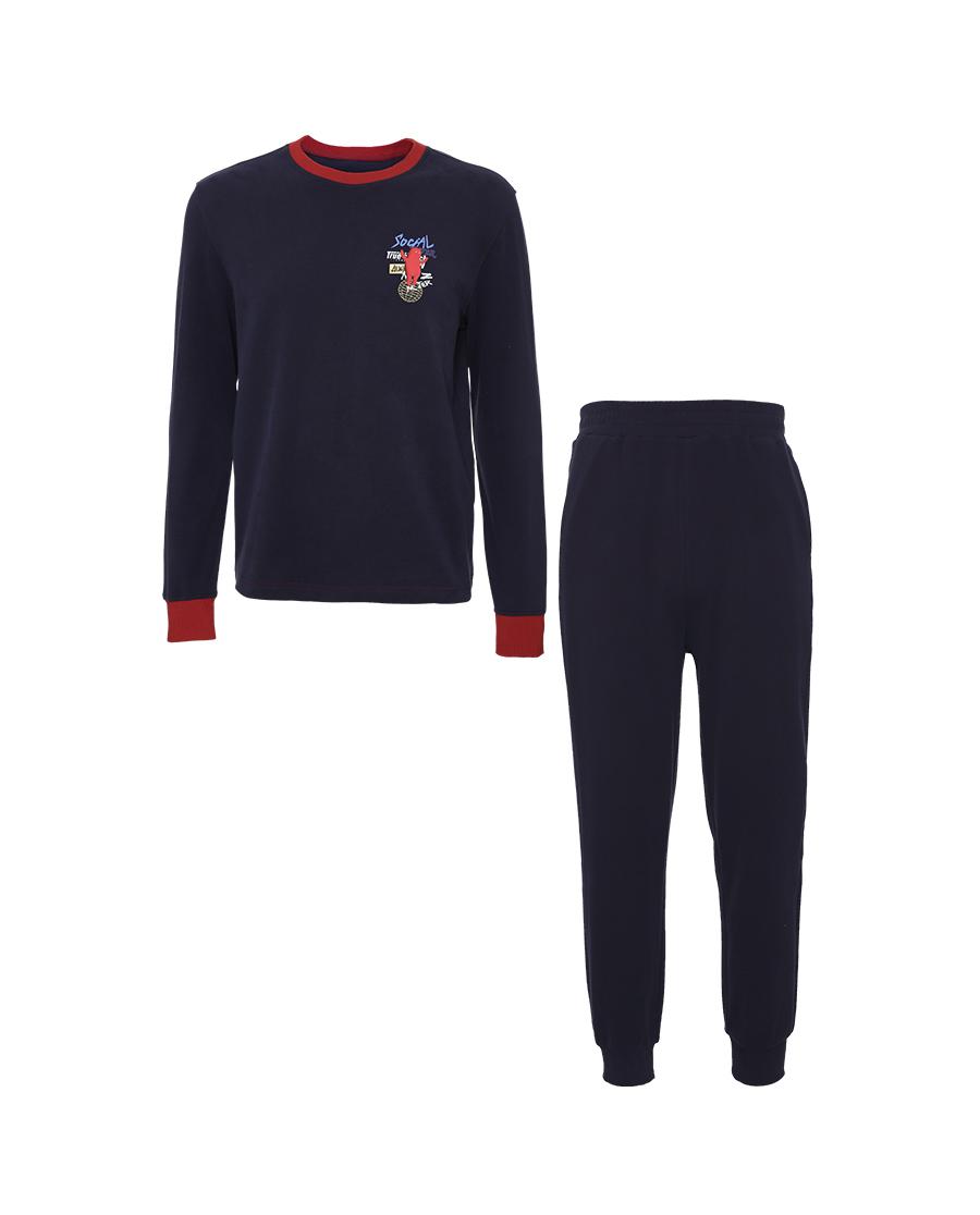 Body Wild睡衣|宝迪威德  (毕加索的球)圆领套头长袖+缩口长裤套装(在线专供)ZBN43VL1