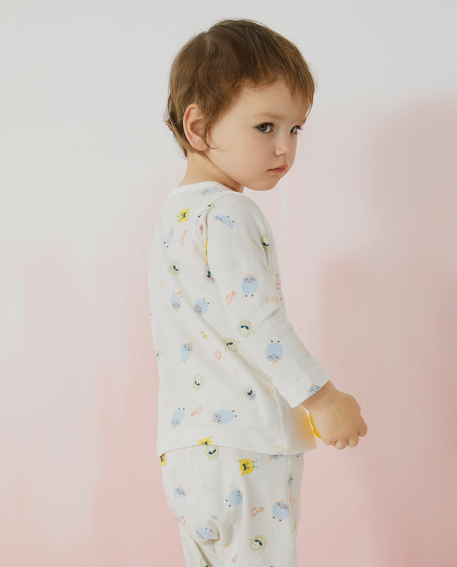 Aimer Baby保暖|爱慕婴儿淘气小萌怪中性婴幼长袖上衣AB3