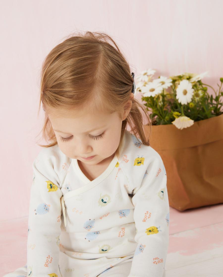 Aimer Baby保暖|爱慕婴儿淘气小萌怪中性婴幼系绳长袖AB3