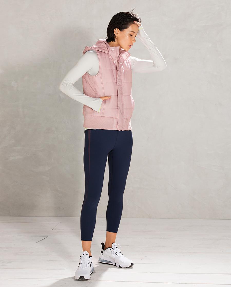 Aimer Sports睡衣|爱慕运动运动派对II带帽拉链棉马甲AS1