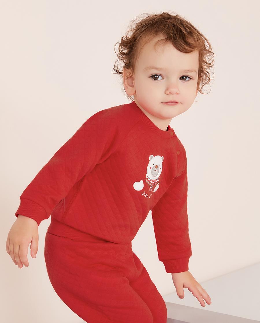 Aimer Baby睡衣|爱慕婴儿拥抱熊中性婴幼长袖上衣AB341