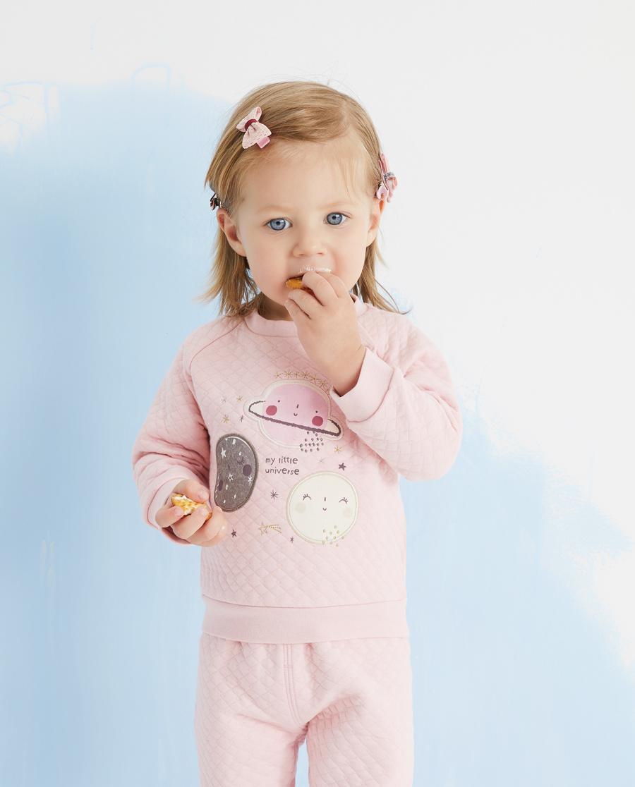 Aimer Baby睡衣|爱慕婴儿可爱星球女婴幼长袖上衣AB141