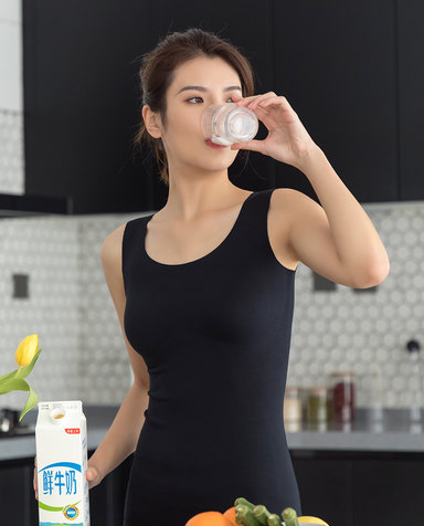 Aimer保暖|爱慕牛奶无袖带杯背心AM725291