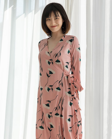 Aimer睡衣|爱慕蜜语缇香七分袖睡裙AM445351