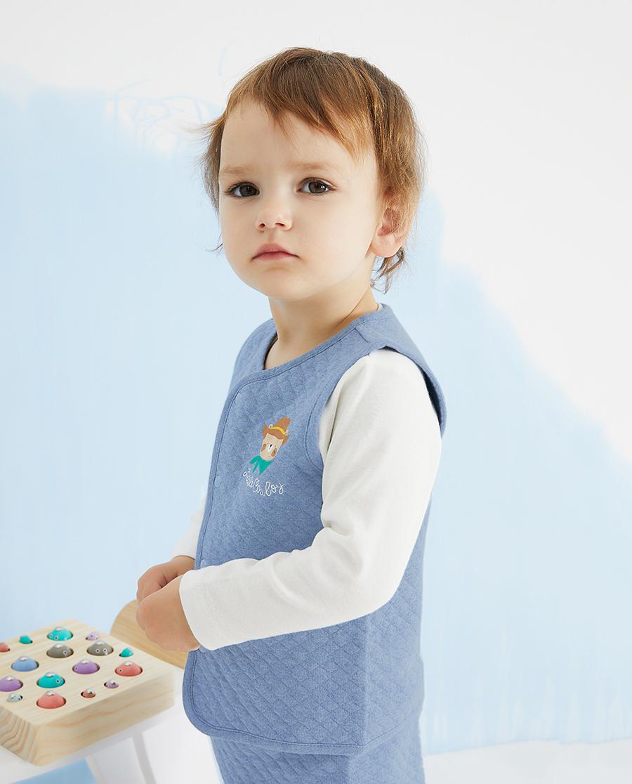 Aimer Baby睡衣|爱慕婴儿牛仔小熊男婴幼马甲AB24138