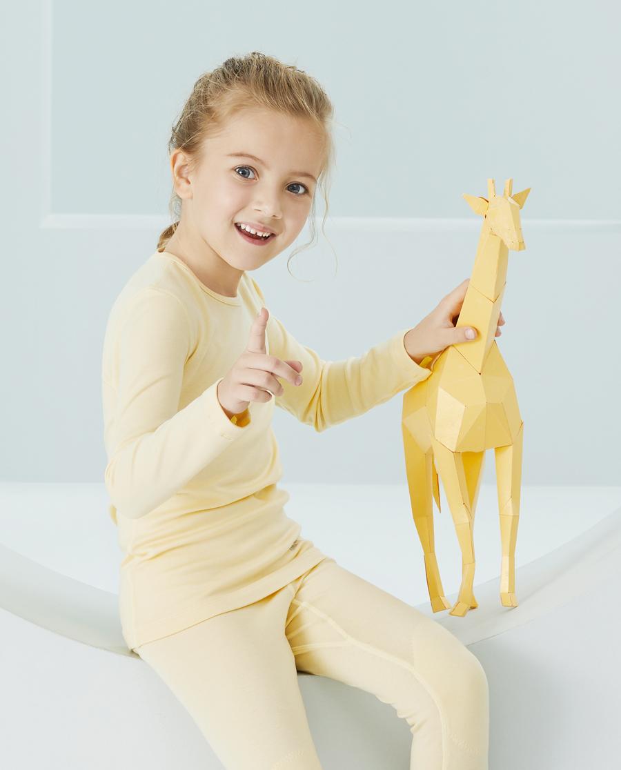 Aimer Kids保暖|爱慕儿童新暖尚中性双层圆领长袖AK372