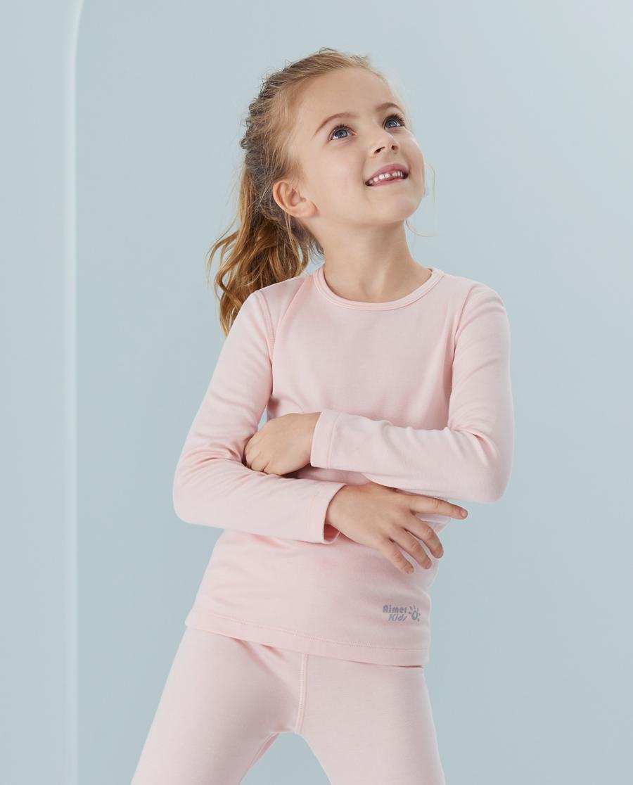 Aimer Kids保暖|爱慕儿童新暖尚女孩双层圆领长袖AK172