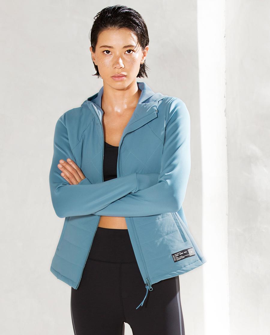 Aimer Sports睡衣|爱慕运动运动派对II带帽拉链棉外套AS1