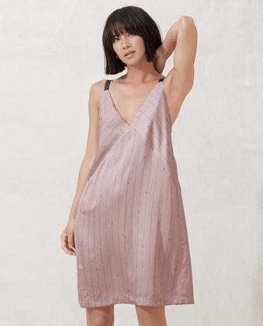 AIMER NYC睡衣| 爱慕NYCBERRY百瑞细带中长睡裙