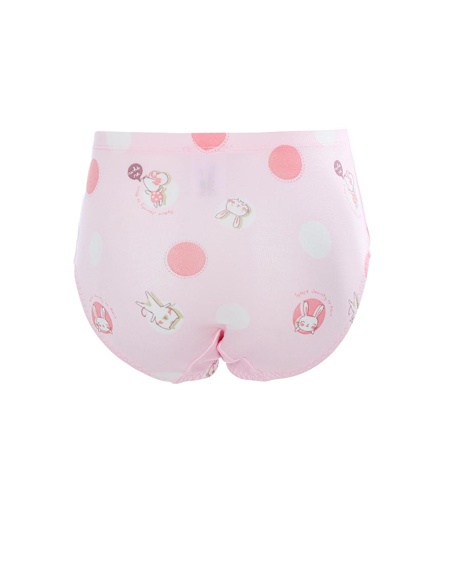 Aimer Kids内裤 爱慕儿童天使小裤MODAL印花女孩圆点兔