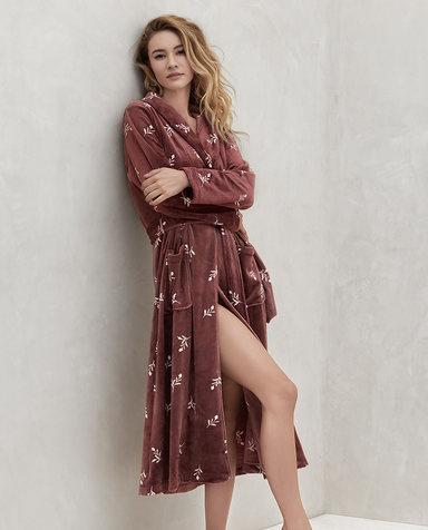 Aimer睡衣| 爱慕绒华II长睡袍AM485311