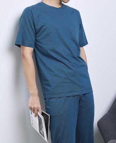 Aimer Men睡衣|爱慕先生智选舒服特家居套装圆领短袖+长裤NS43E611