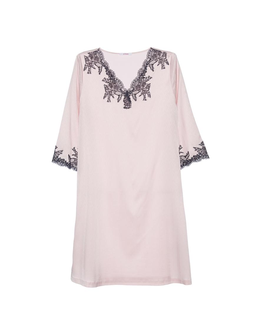 Aimer睡衣|爱慕丝滑起居七分袖中长睡裙AM446061