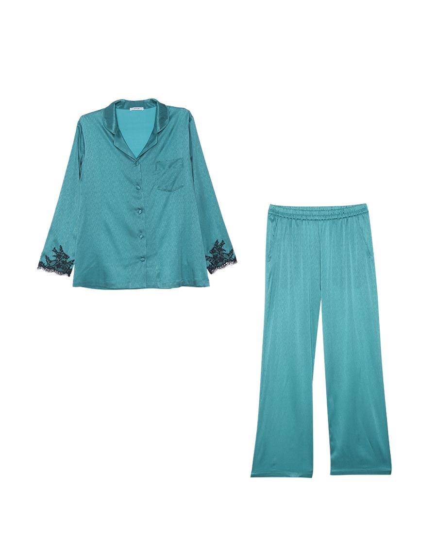 Aimer睡衣|爱慕丝滑起居长袖长裤分身家居套装AM466061