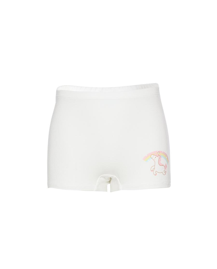 Aimer Kids内裤|爱慕儿童天使小裤MODAL印花女孩彩虹天马中腰平角裤AK1234671