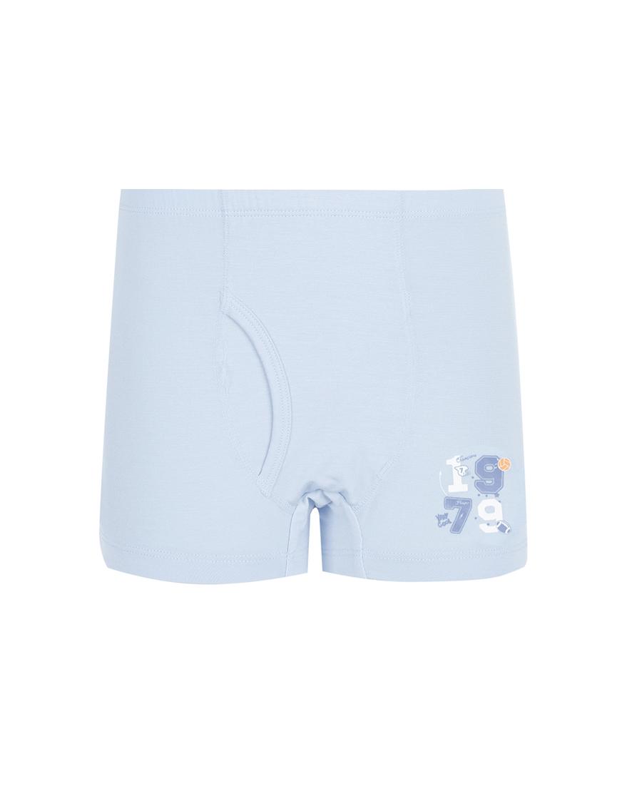 Aimer Kids内裤|爱慕儿童天使小裤MODAL印花男孩全能球手素色中腰平角裤AK2234675