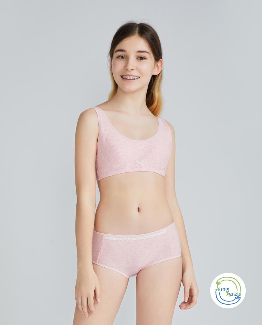 Aimer Junior文胸|爱慕少年植物公主少女二阶段短背心AJ11